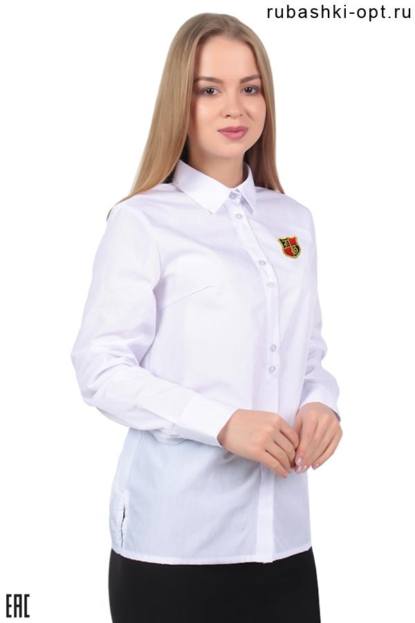 Рубашка женская корпоративная гладкокрашенная  белая