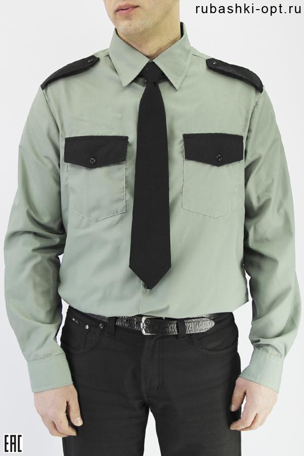 Рубашка охранника длинный рукав, оливковый цвет