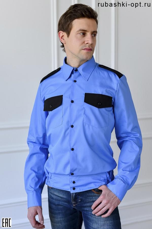 Рубашка охранника длинный рукав, на поясе